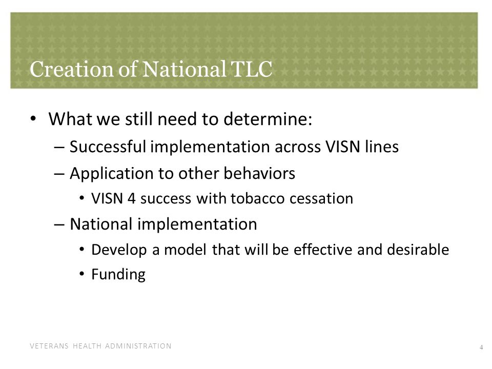 National TLC Details Part of Transformational Initiatives, Preventive Care Program. Telephone Lifestyle Coaching.