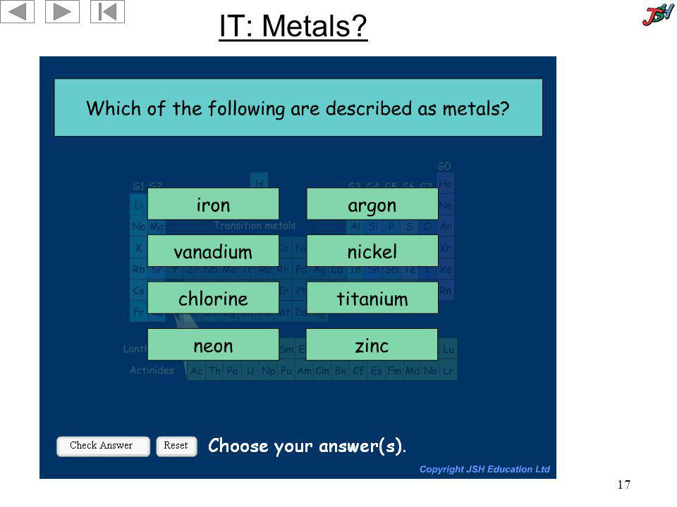 IT: Metals