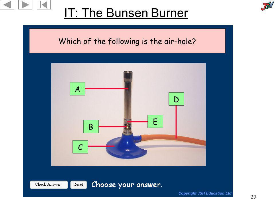 IT: The Bunsen Burner