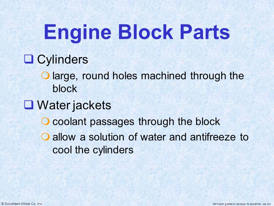 Engine Block Parts Cylinders Water jackets