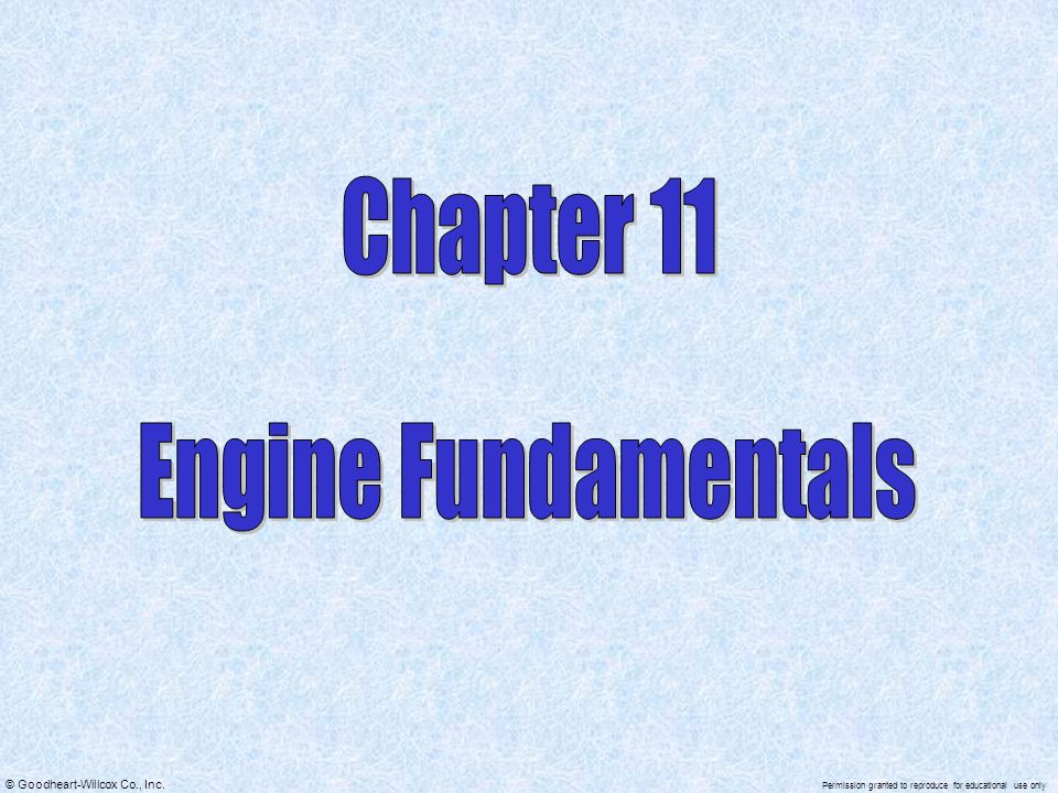 Chapter 11 Engine Fundamentals