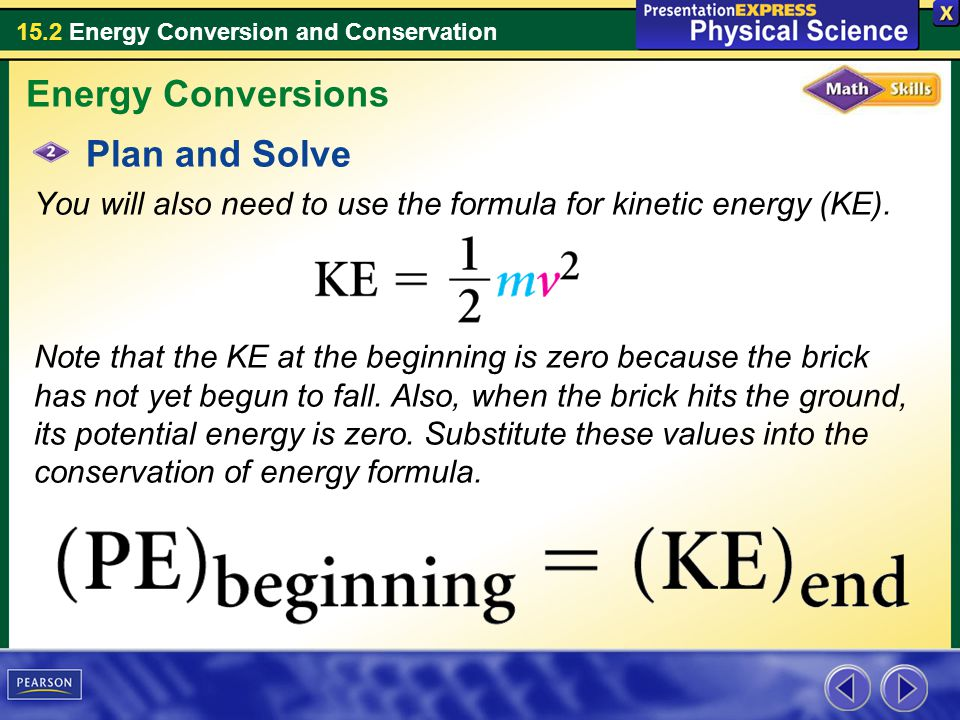 Energy Conversions Plan and Solve