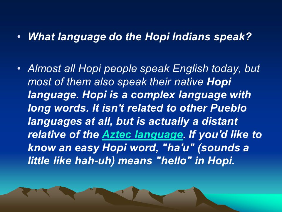 What language do the Hopi Indians speak