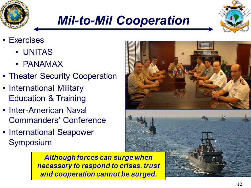 Mil-to-Mil Cooperation