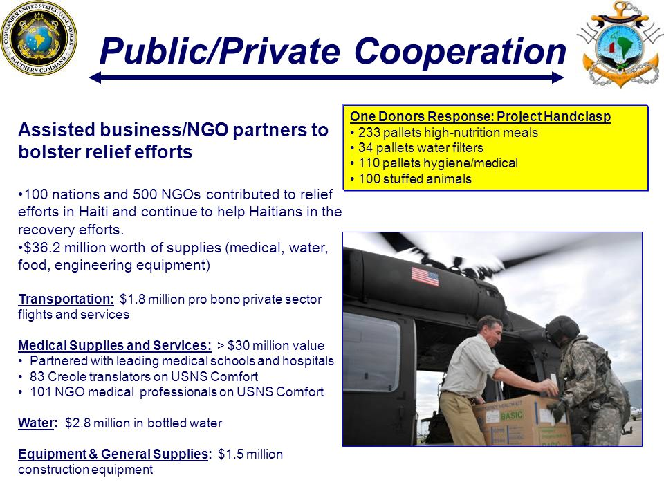 Public/Private Cooperation
