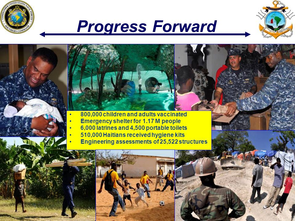 Progress Forward 800,000 children and adults vaccinated