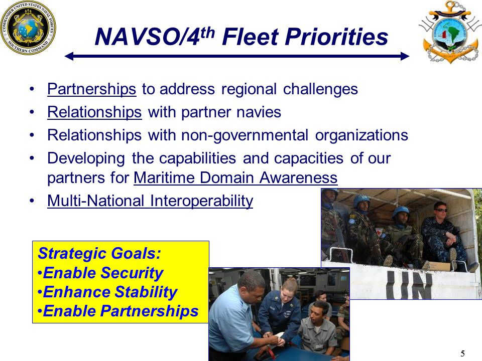 NAVSO/4th Fleet Priorities