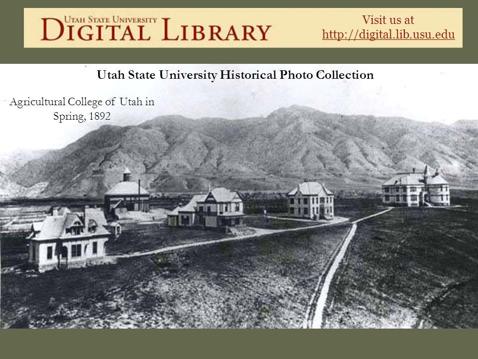 Agricultural College of Utah in Spring, 1892