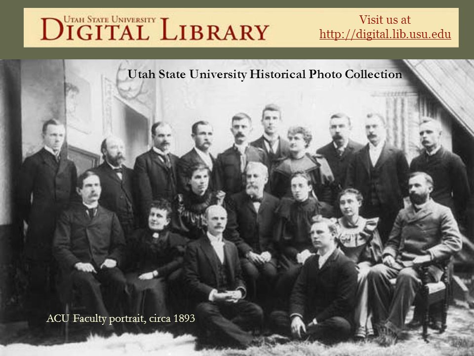 ACU Faculty portrait, circa 1893