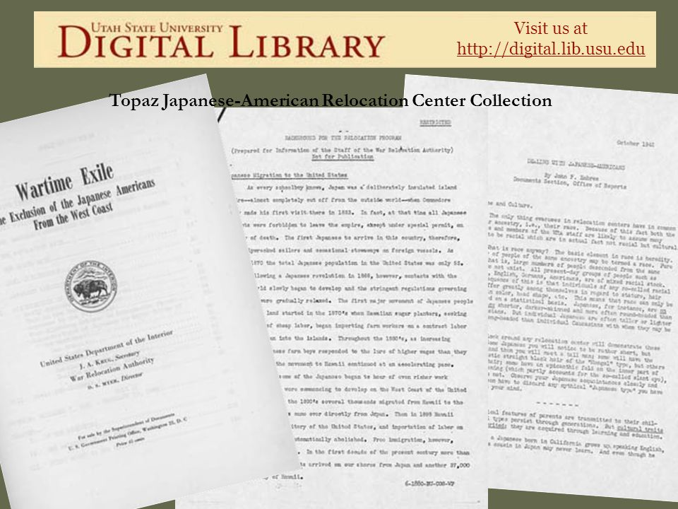 Topaz Japanese-American Relocation Center Collection