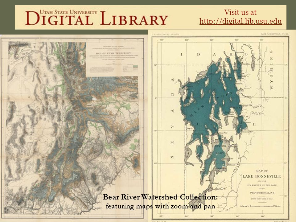 Bear River Watershed Collection: featuring maps with zoom and pan