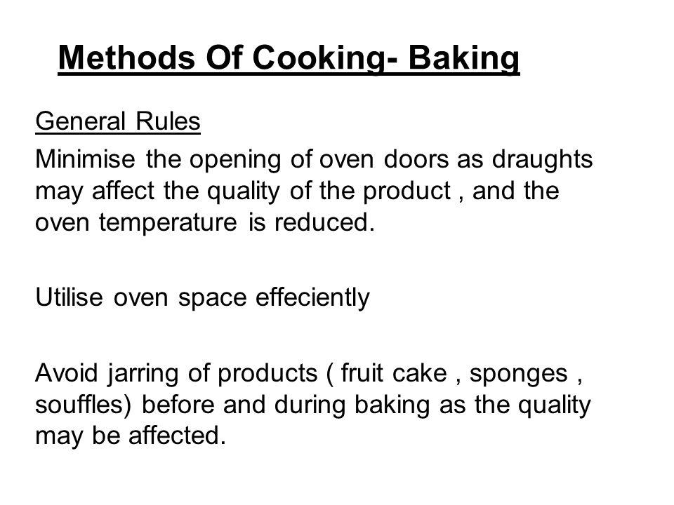 Methods Of Cooking- Baking