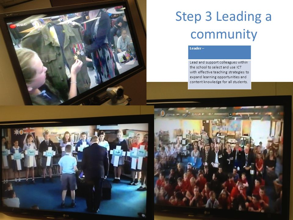 Step 3 Leading a community