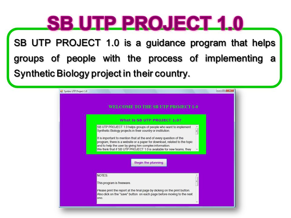 SB UTP PROJECT 1.0