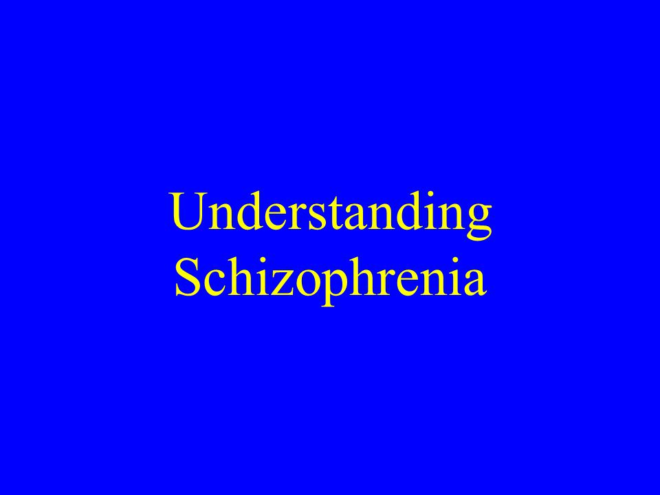 a description of schizophrenia in understanding mental illnesses Mental health problem symptoms, causes and effects  a physical checkup can rule out physical illnesses an appointment with a mental  understanding mental.