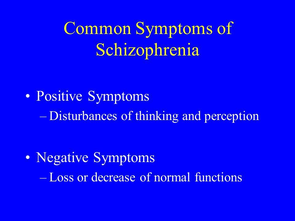 Common Symptoms of Schizophrenia