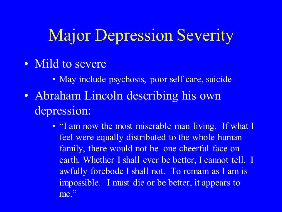 Major Depression Severity