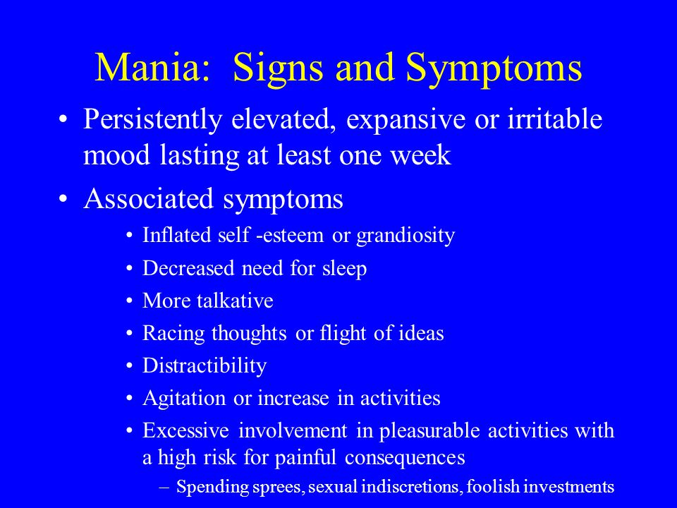 signs and symptoms of mental illness pdf