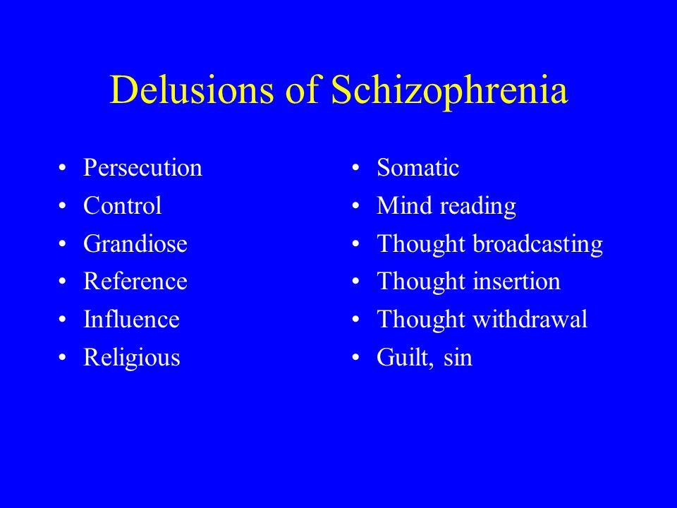 Delusions of Schizophrenia