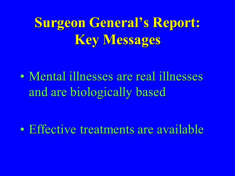 Surgeon General's Report: Key Messages