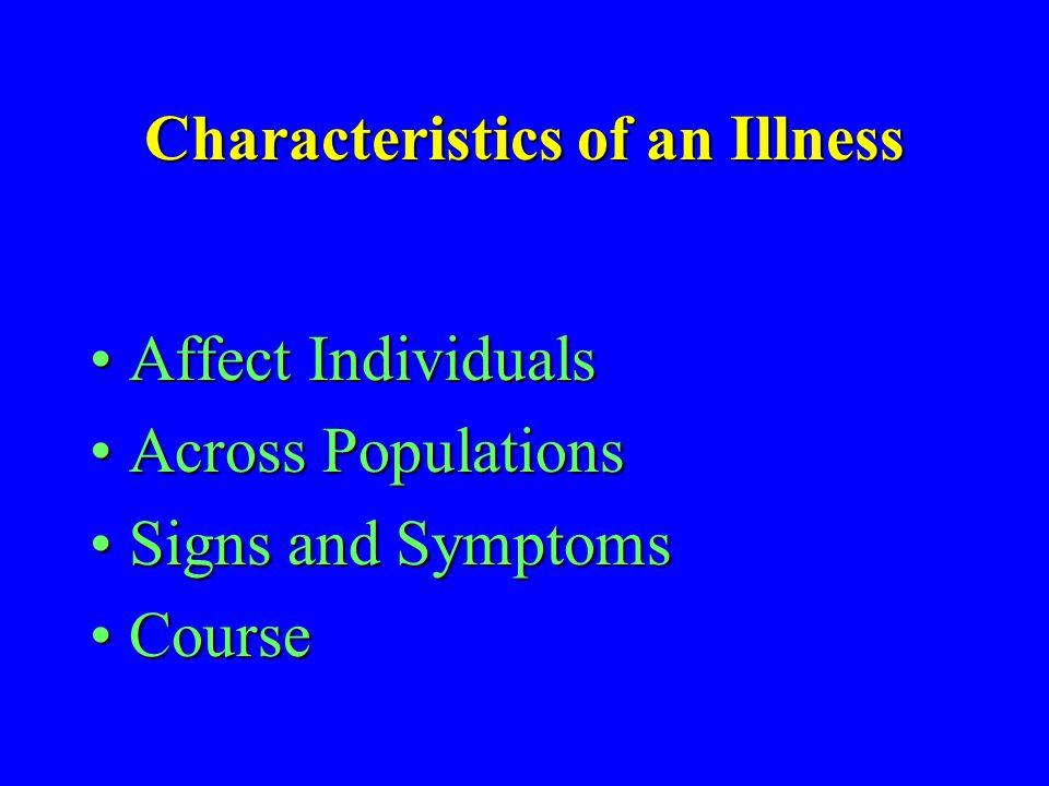 Characteristics of an Illness