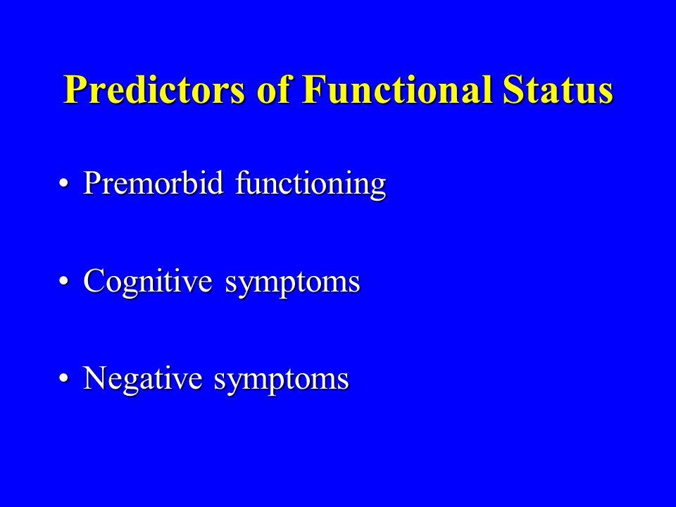 Predictors of Functional Status