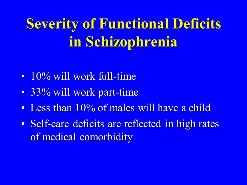 Severity of Functional Deficits in Schizophrenia