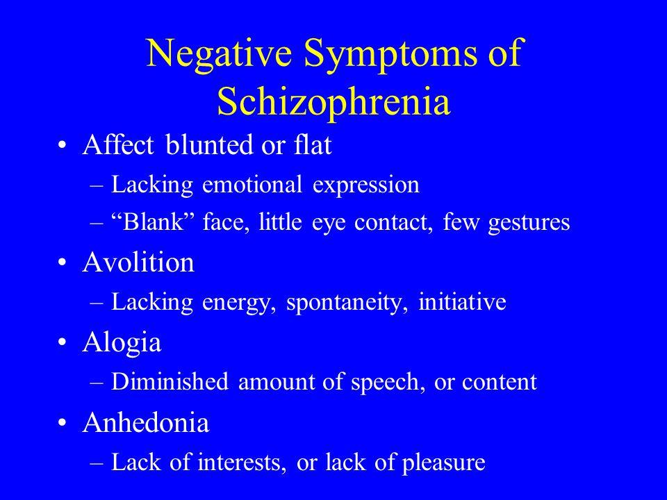 Negative Symptoms of Schizophrenia