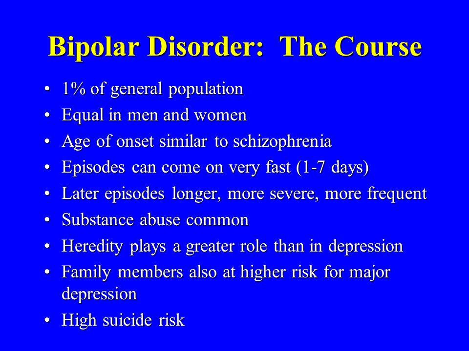 Bipolar Disorder: The Course