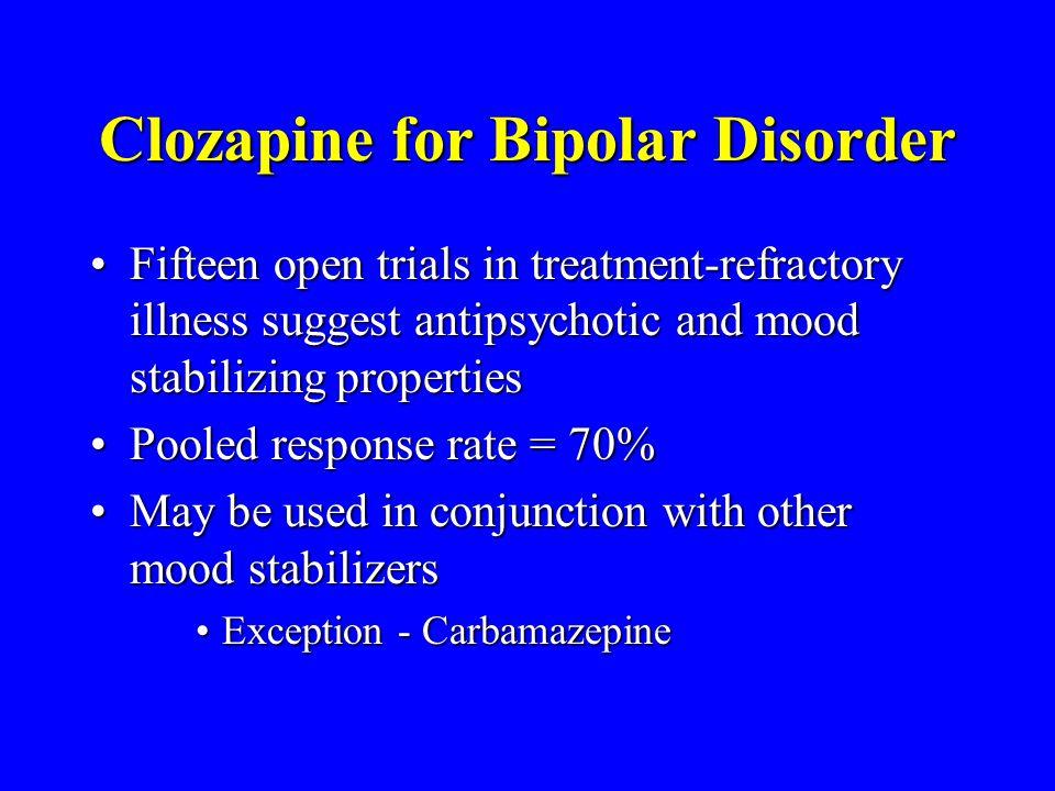 Clozapine for Bipolar Disorder