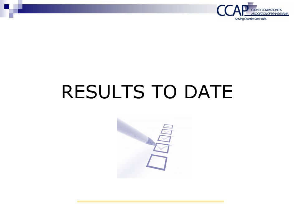 Results to date