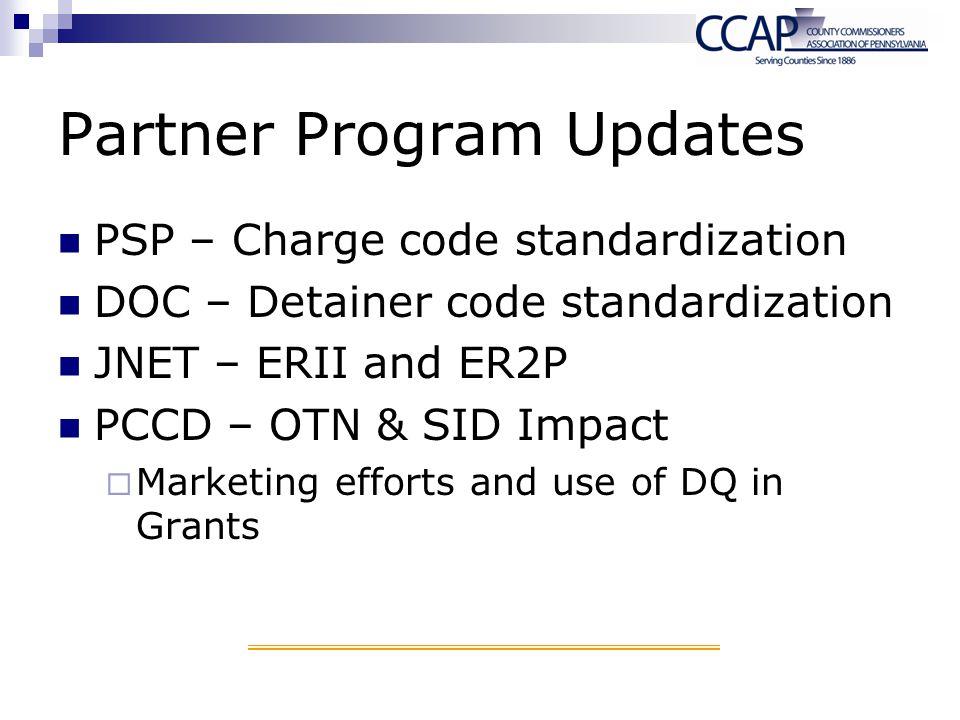 Partner Program Updates