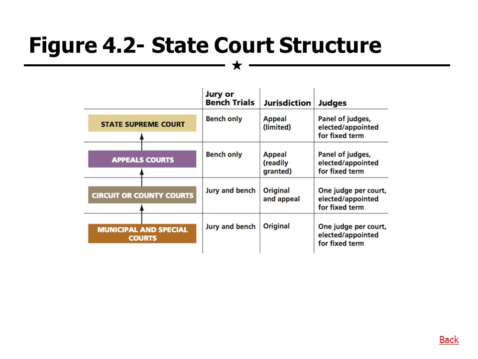 Figure 4.2- State Court Structure