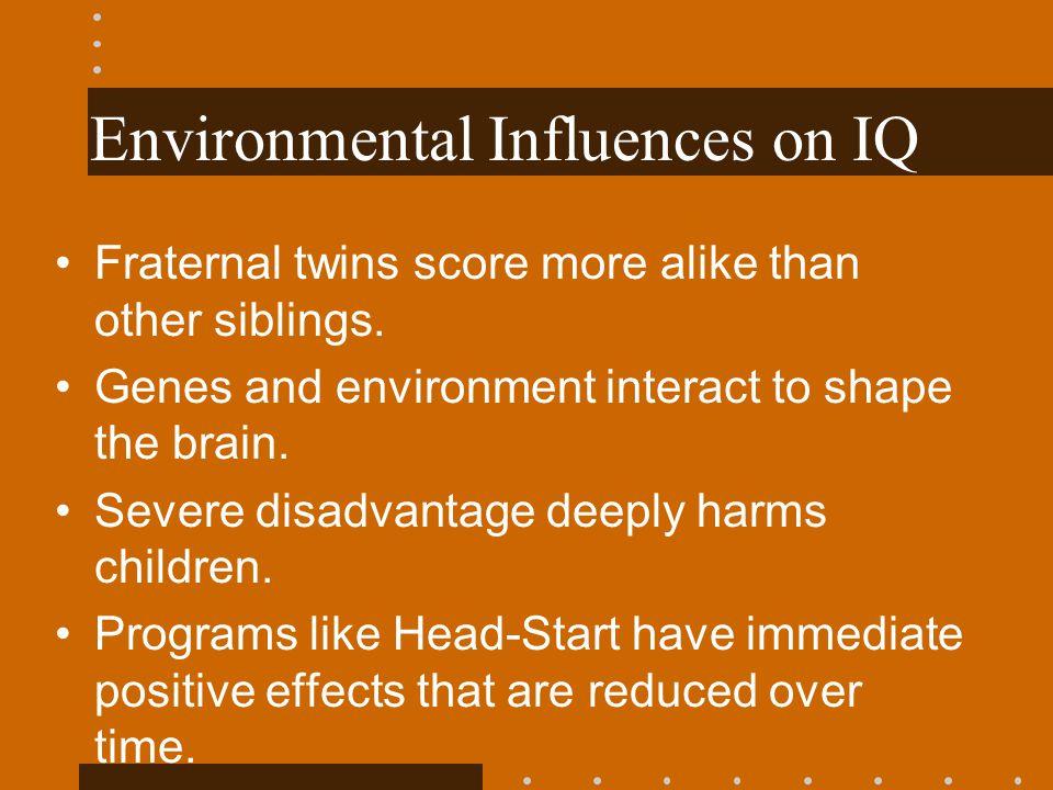 Environmental Influences on IQ