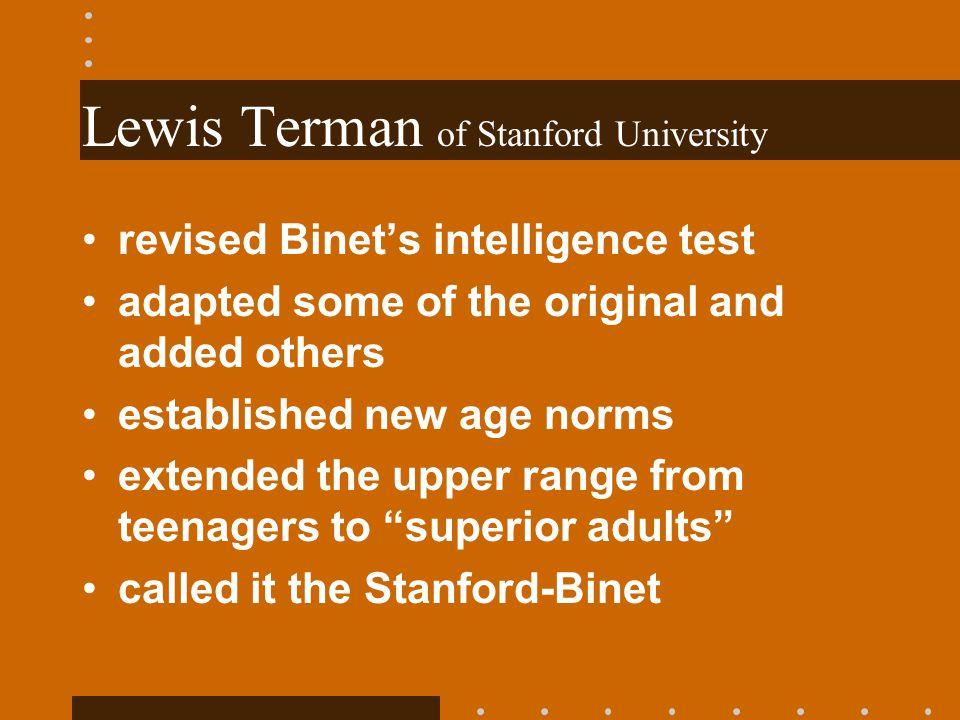 Lewis Terman of Stanford University