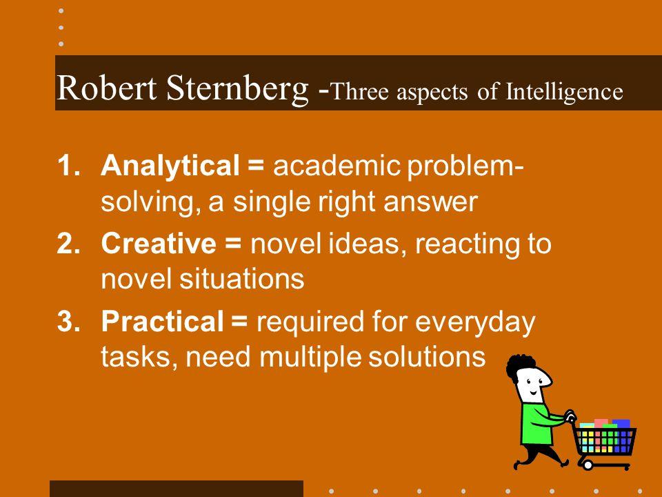 Robert Sternberg -Three aspects of Intelligence