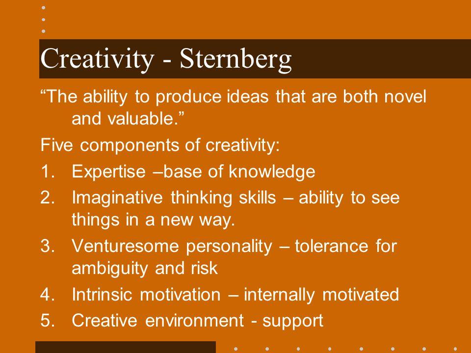 Creativity - Sternberg