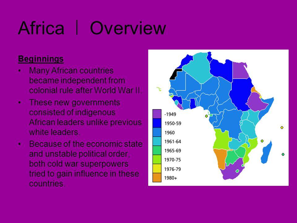 Africa Overview Beginnings