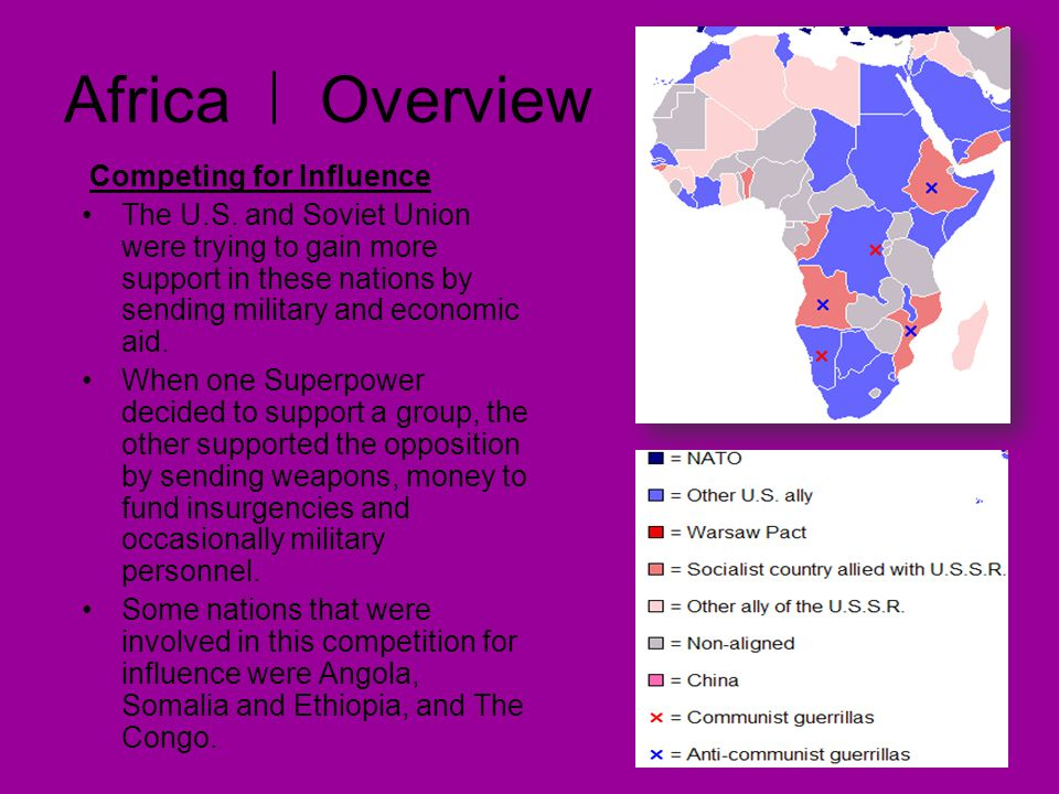 Africa Overview Competing for Influence