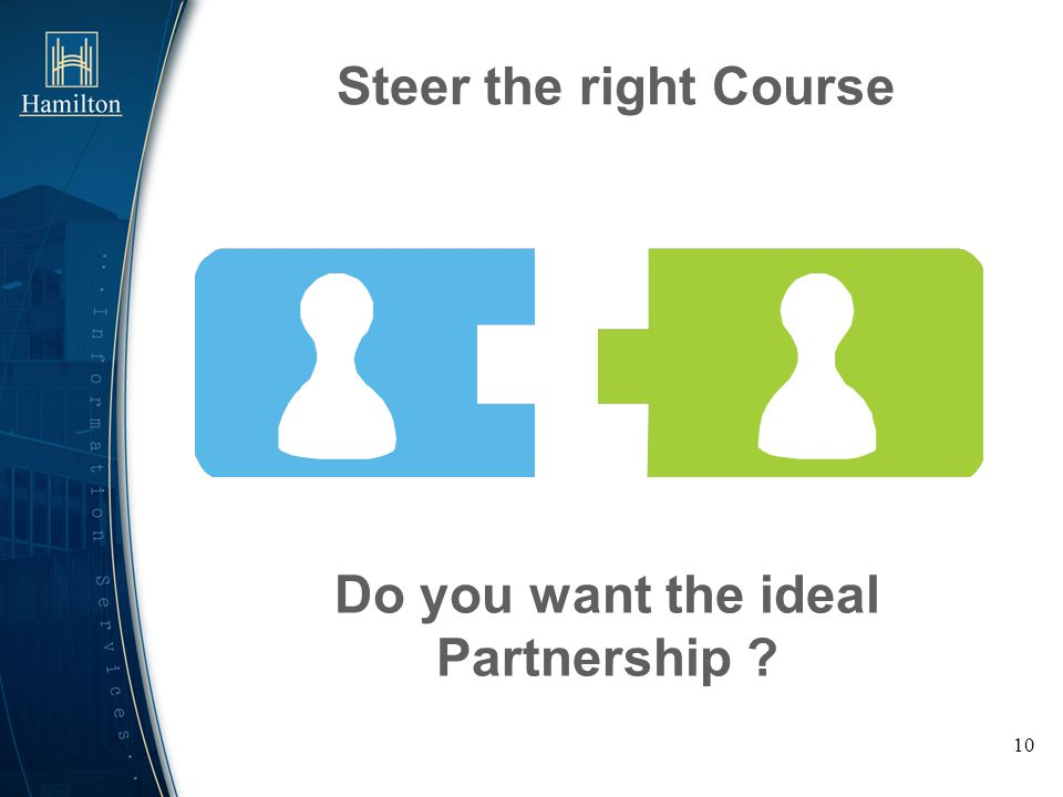 Do you want the ideal Partnership