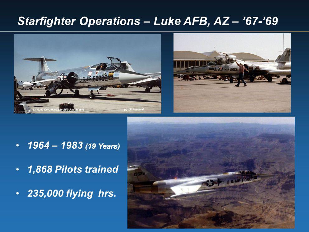 Starfighter Operations – Luke AFB, AZ – '67-'69