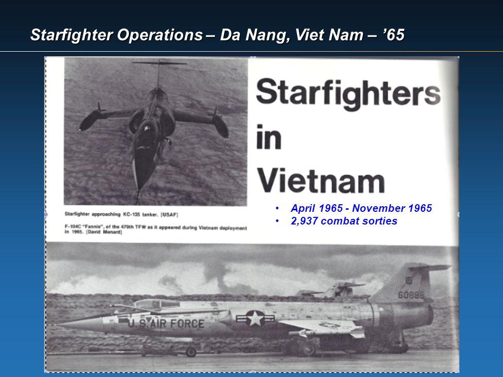 Starfighter Operations – Da Nang, Viet Nam – '65