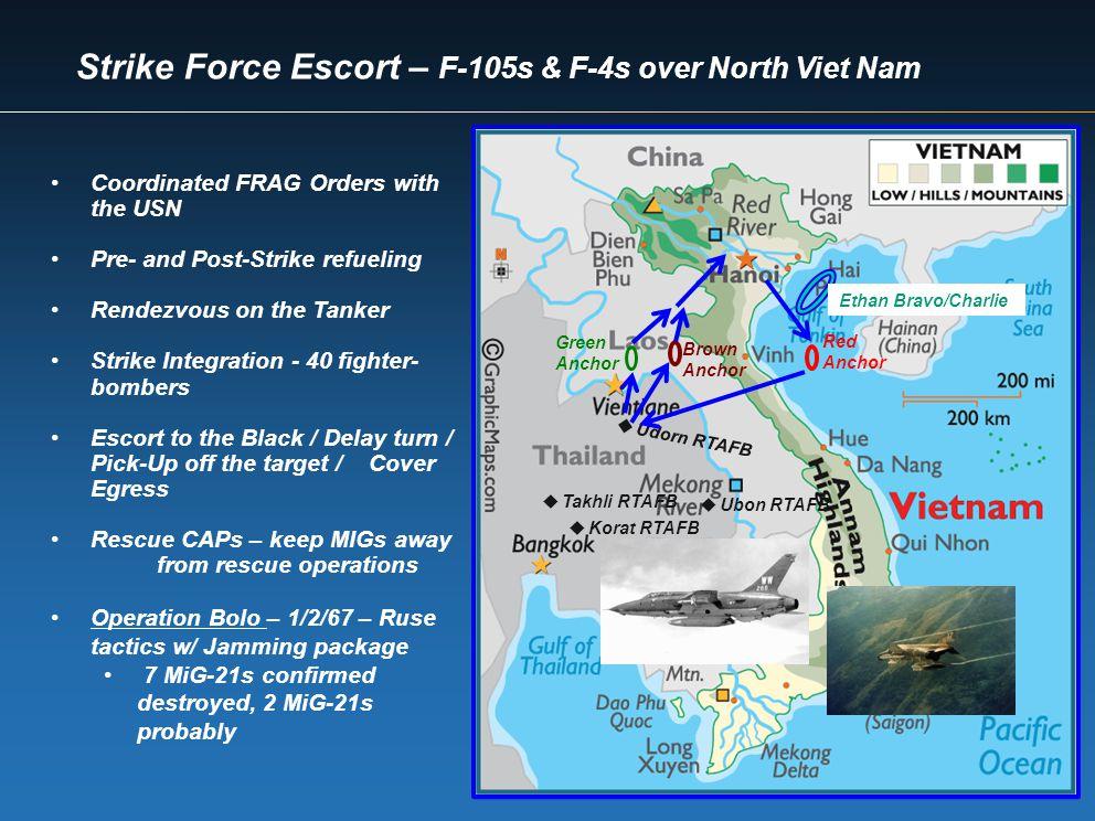 Strike Force Escort – F-105s & F-4s over North Viet Nam