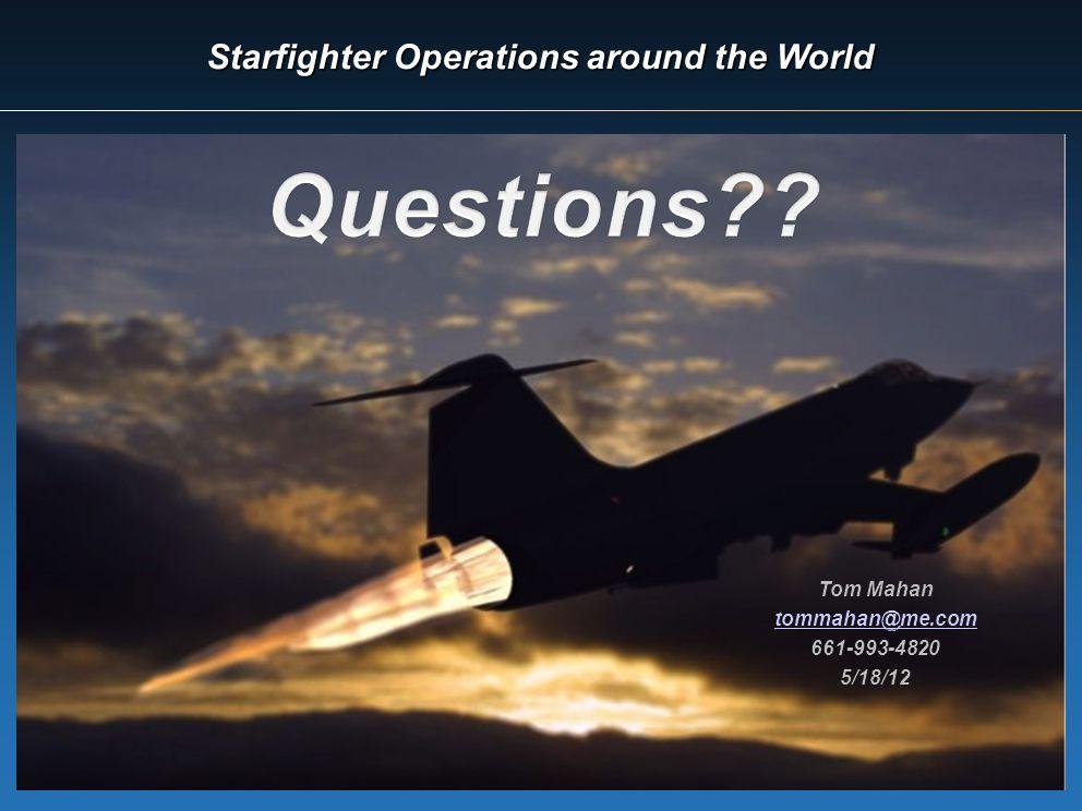 Starfighter Operations around the World