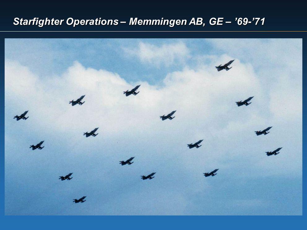 Starfighter Operations – Memmingen AB, GE – '69-'71