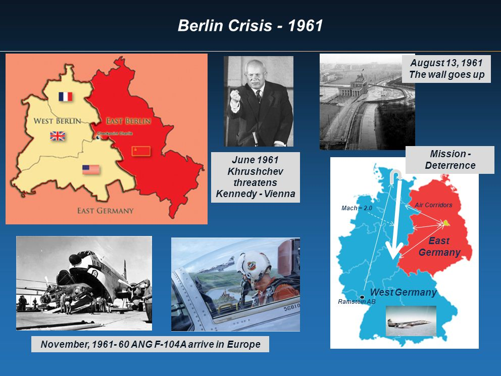 Berlin Crisis - 1961 August 13, 1961 The wall goes up