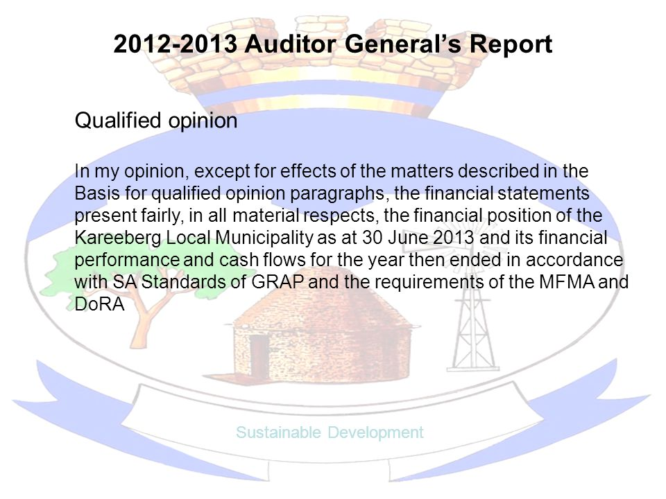 2012-2013 Auditor General's Report