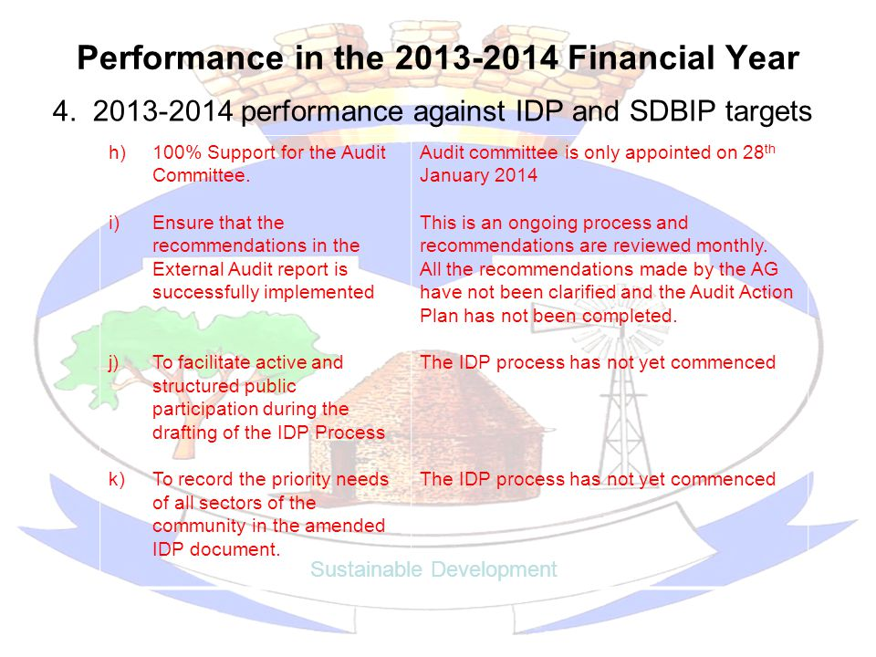 Performance in the 2013-2014 Financial Year