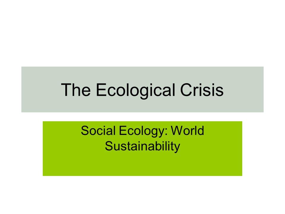 Social Ecology: World Sustainability