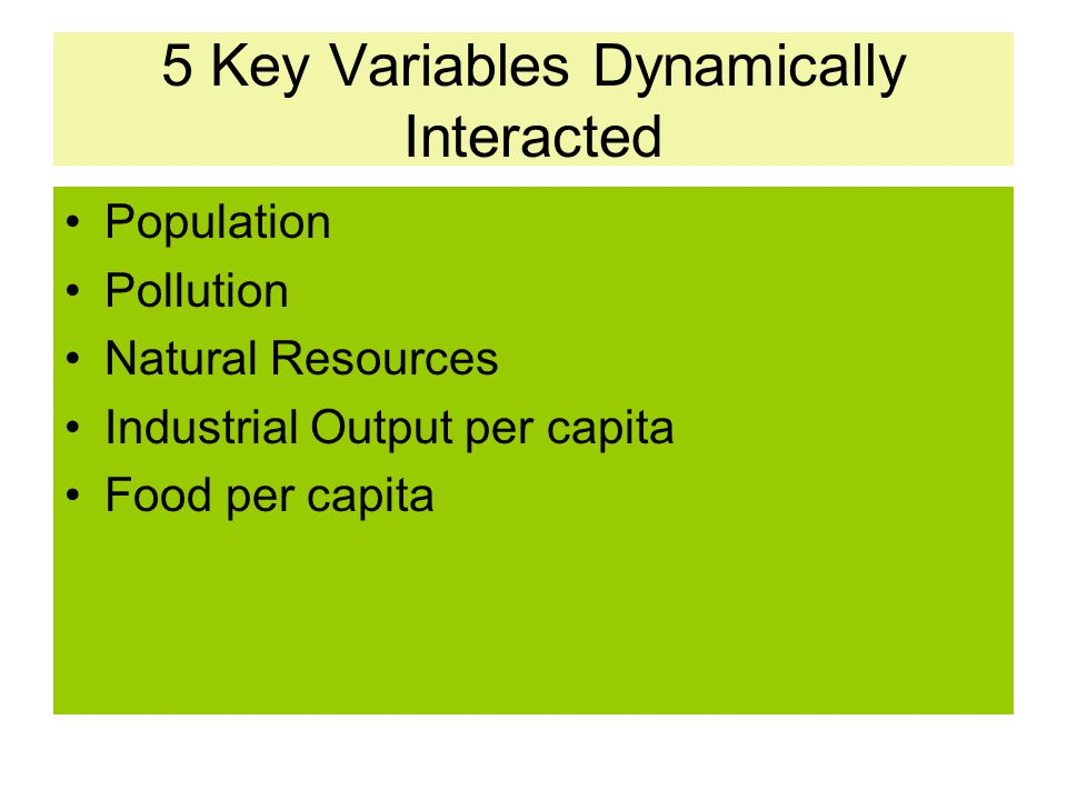 5 Key Variables Dynamically Interacted